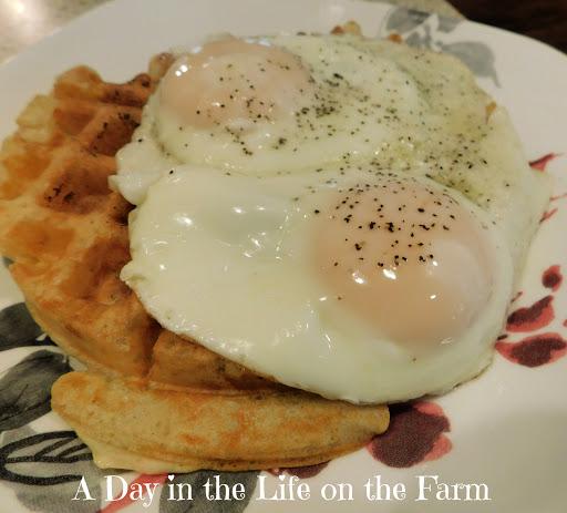 Sourdough Waffles and Eggs