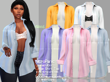 Large Shirt Top & Fullbody Version for the Sims 4