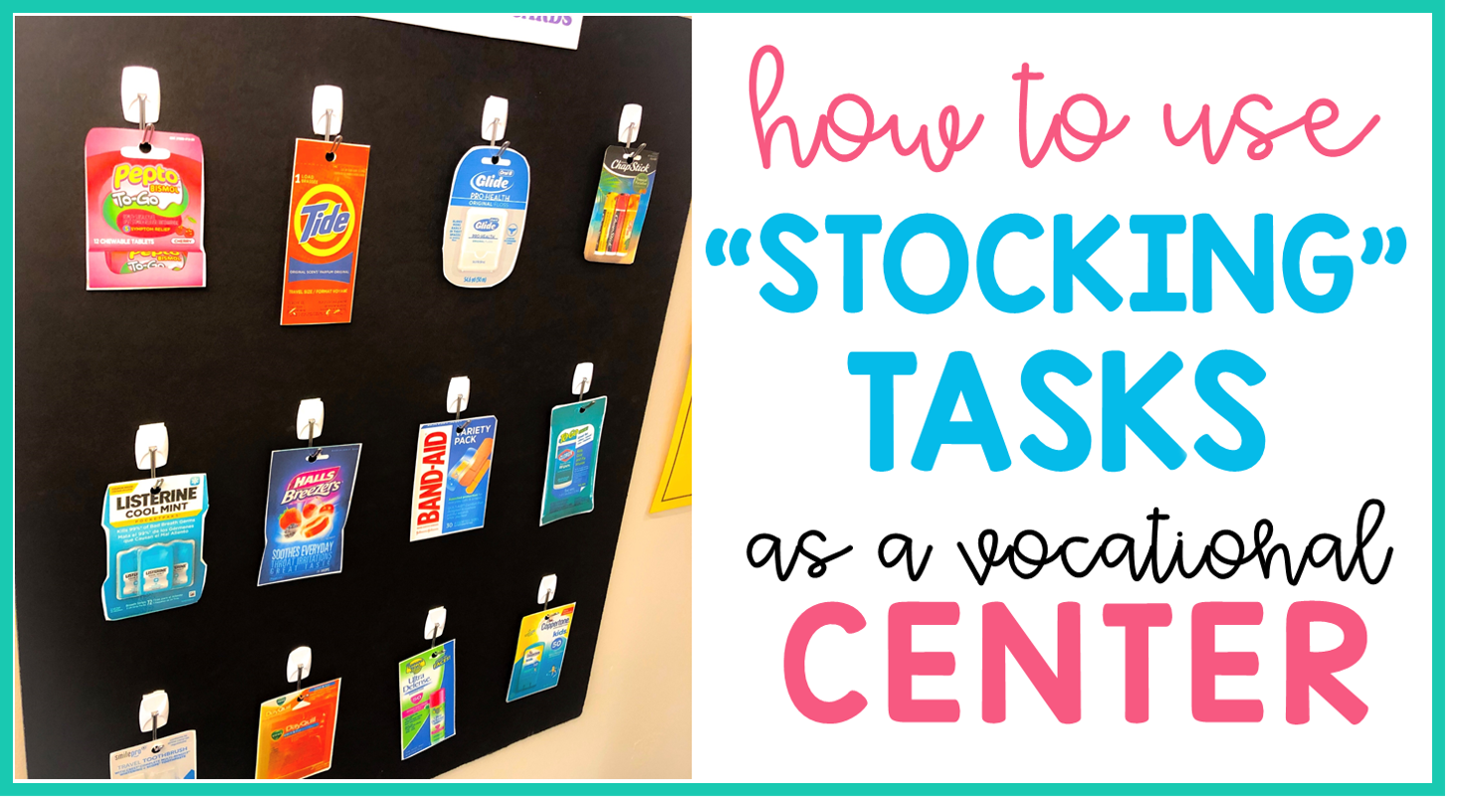 how to use stocking tasks as a vocational center stock the drug store