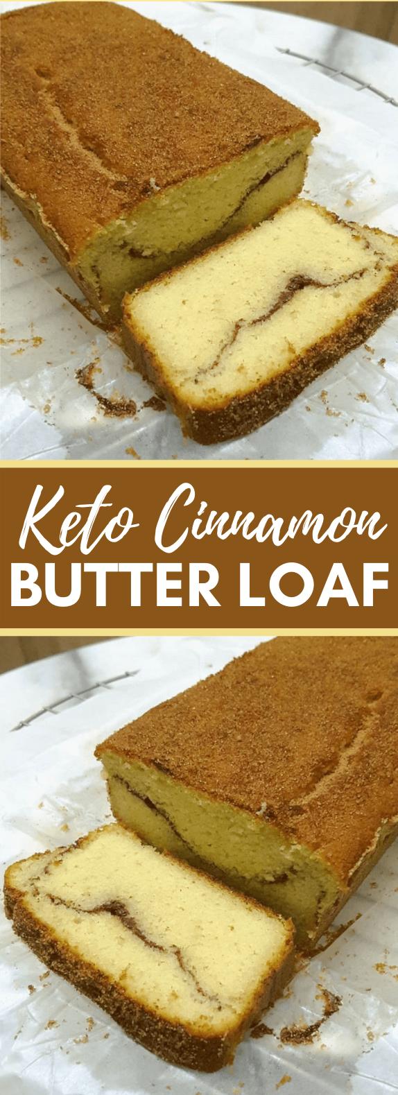 KETO CINNAMON BUTTER LOAF #healthy #bread