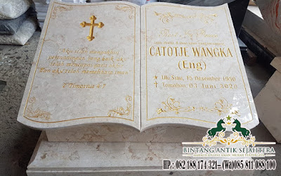 Model Batu Nisan Kuburan Kristen, Contoh Batu Nisan Kuburan Kristen, Batu Nisan Marmer Malang