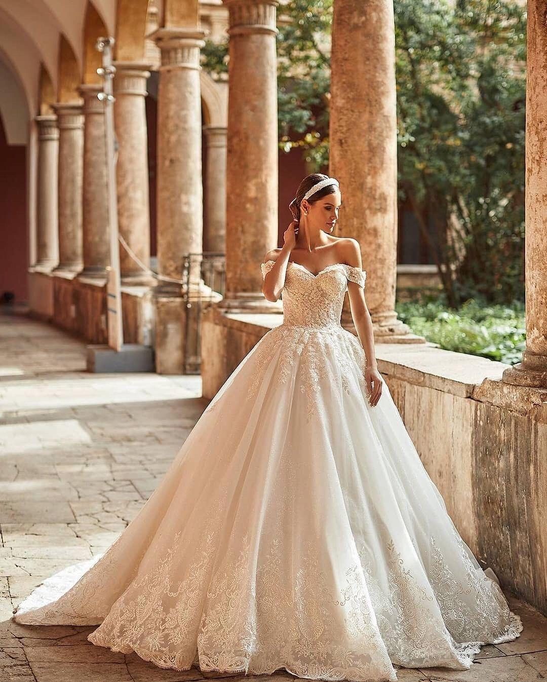 Off shoulder wedding dresses