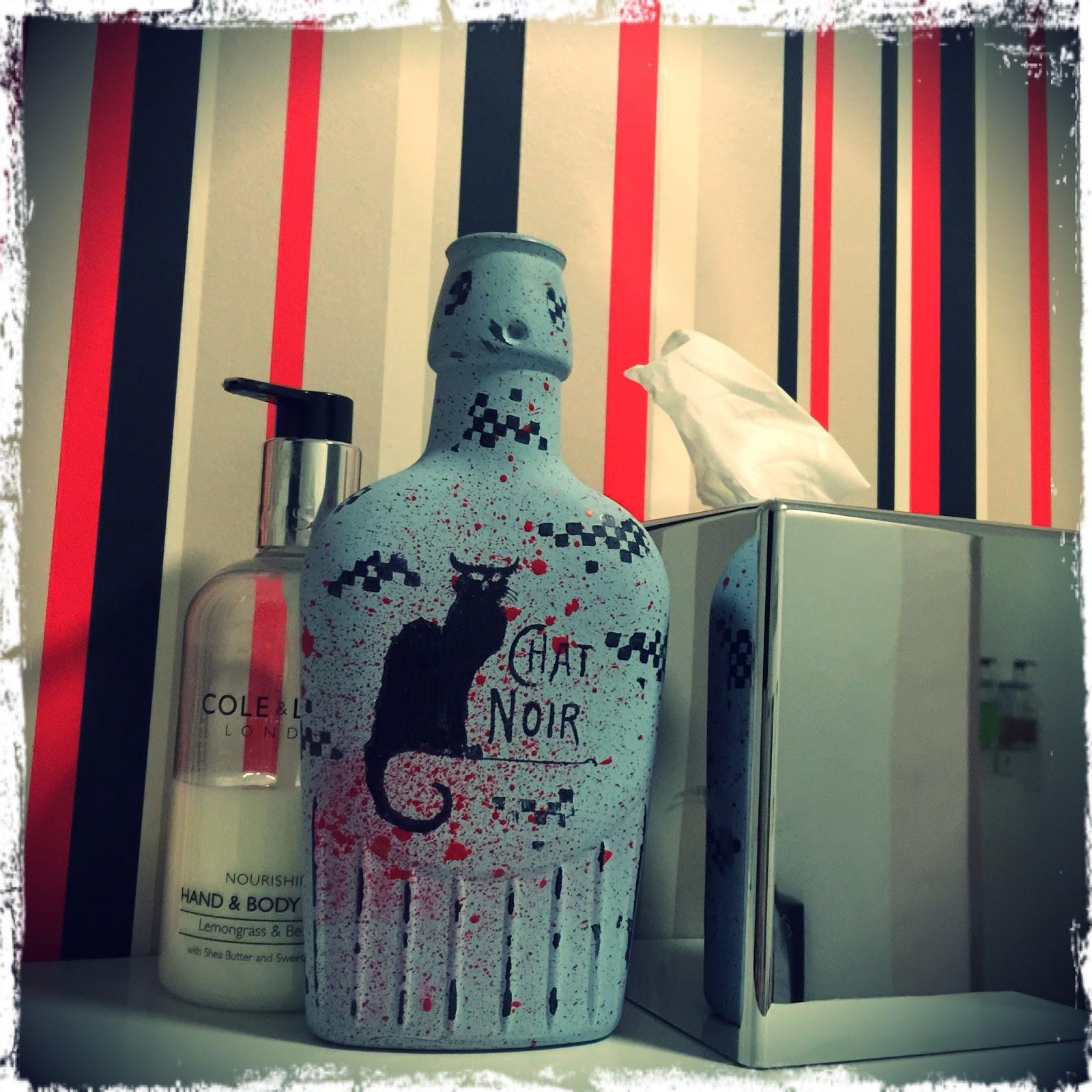 De Stempelwinkel Designteam Le Chat Noir Vintage Bottle