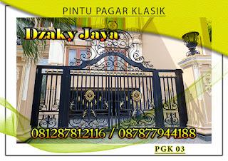 Model pintu, gerbang, pagar, besi, tempa, klasik, mewah 03