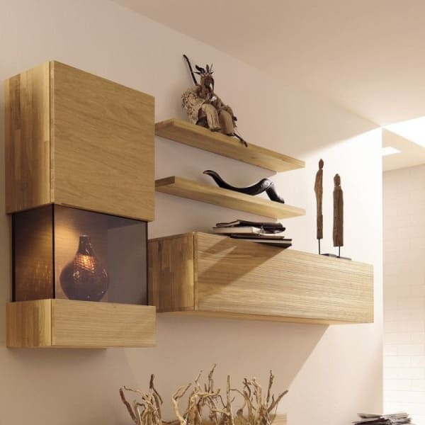 The latest forms of modern walls shelves with pictures