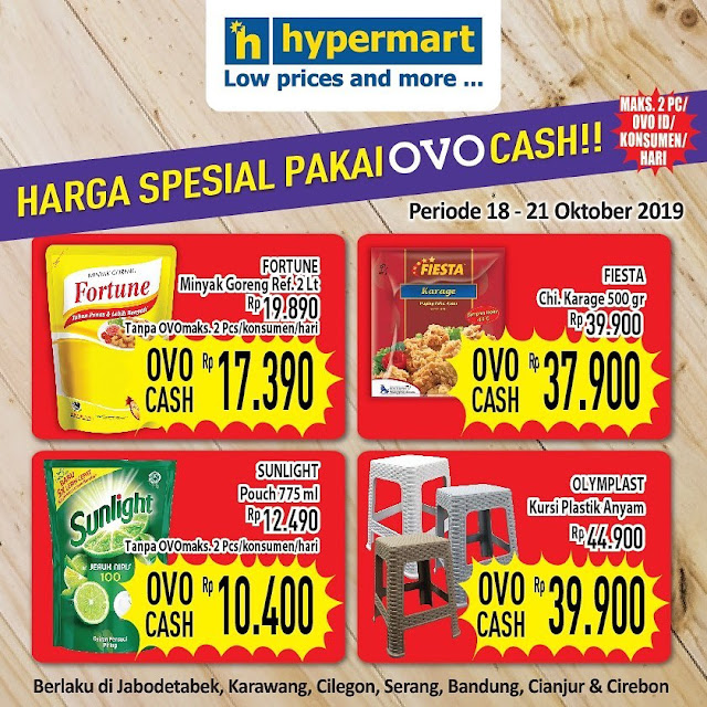 #Hypermart - #Promo Harga Spesial Pakai OVO Cash (s.d 21 Okt 2019)