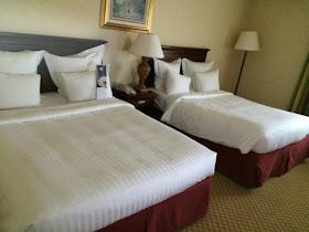 Marriot hotel bedroom bed