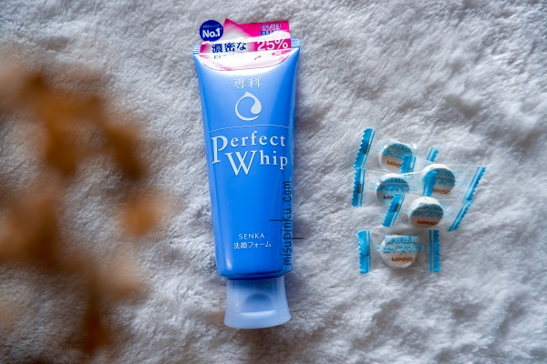 review senka perfect whip facial foam