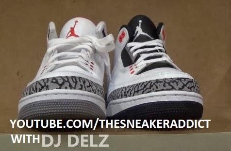 387c3d3a3b405 Air Jordan Infrared 3 VS White Cement Sneaker Comparison With Dj Delz   Flightclub