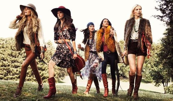 foto con modelos ropa boho
