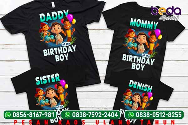 Contoh desain kaos ulang tahun ultah anak