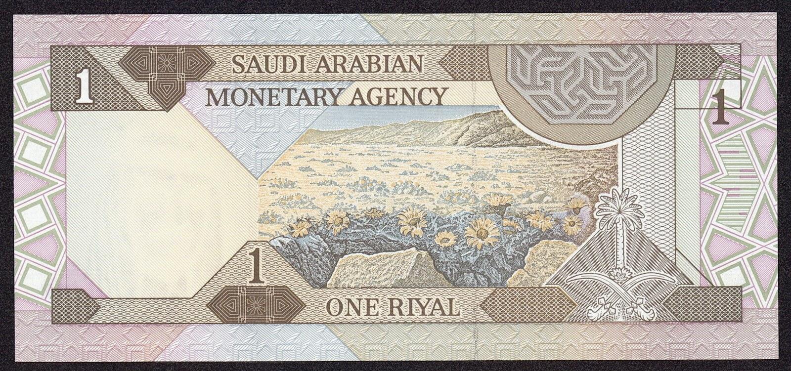 Saudi Arabia money currency 1 Riyal Note 1984