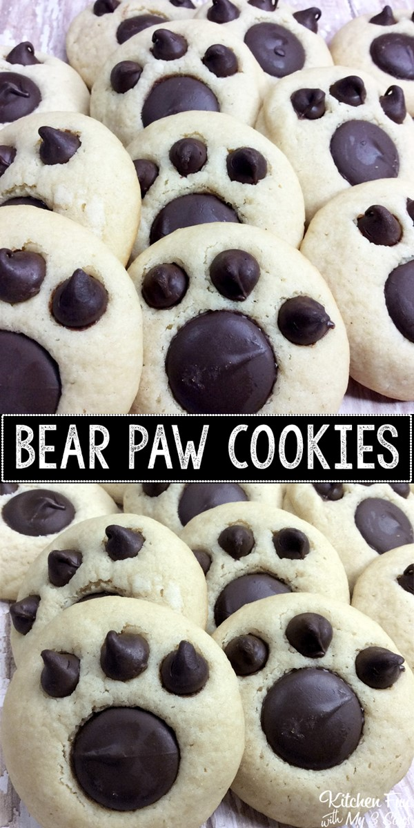 BEAR PAW COOKIES #cookiesrecipes