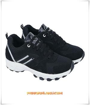Sepatu Sport Pria Sporty Warna Hitam