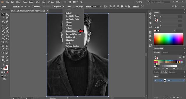Illusion Effect on Image in Adobe Illustrator