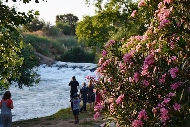 מפל קטן בנהר הירדן ליד הבלום וילג'