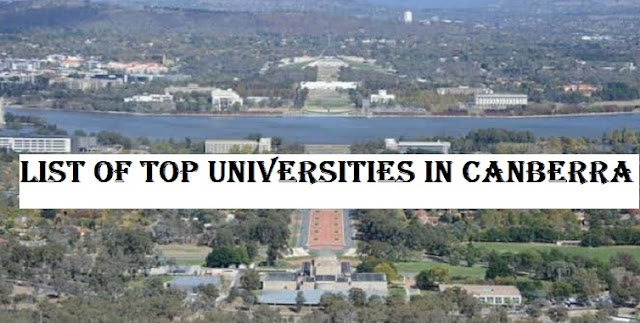 List of Top universities in Canberra