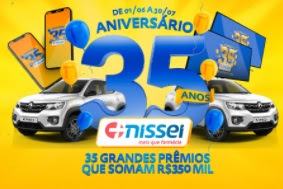 Cadastrar Promoção Aniversário Nissei 35 Anos Farmácias