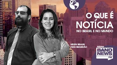 """Helen Braun e Ivan Brandão comandam o programa """"Expresso São Paulo"""" - Divulgação"""