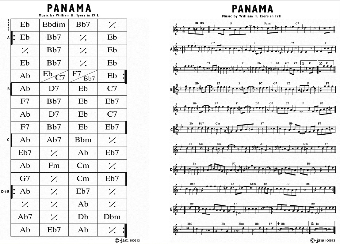 Pops Coffees Traditional Jazz Post 414 Panama Rag