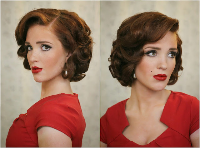 Excellent The Freckled Fox Modern Pin Up Week 5 Upright Pin Curls Hairstyle Inspiration Daily Dogsangcom