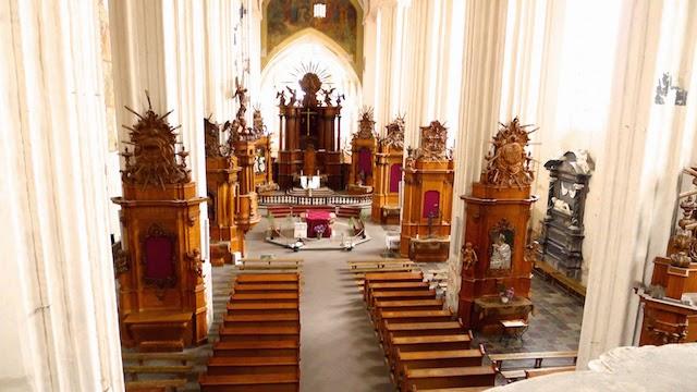 Bernadinų bažnyčia nuo vargonų