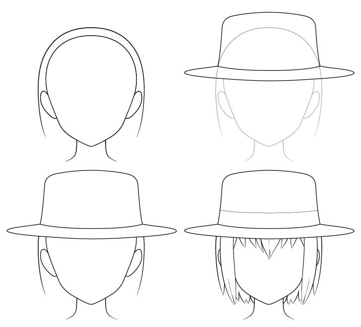 Gambar topi fedora anime