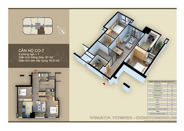Căn hộ 07 diện tích 87 m2