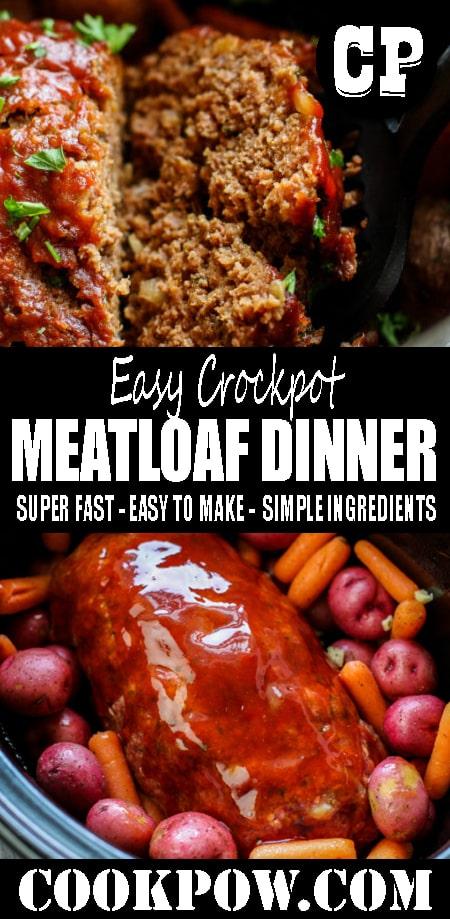 Easy #Crockpot Meatloaf #Dinner