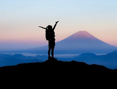 Mt. Fuji Victory Pose