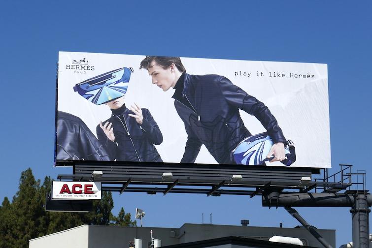 Play it like Hermès mens FW18 billboard