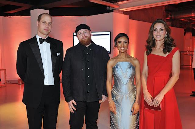 Kate, William, Meghan i Harry na oficjalnej kolacji Royal Foundation