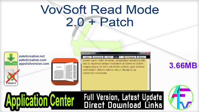 VovSoft Read Mode 2.0 + Patch