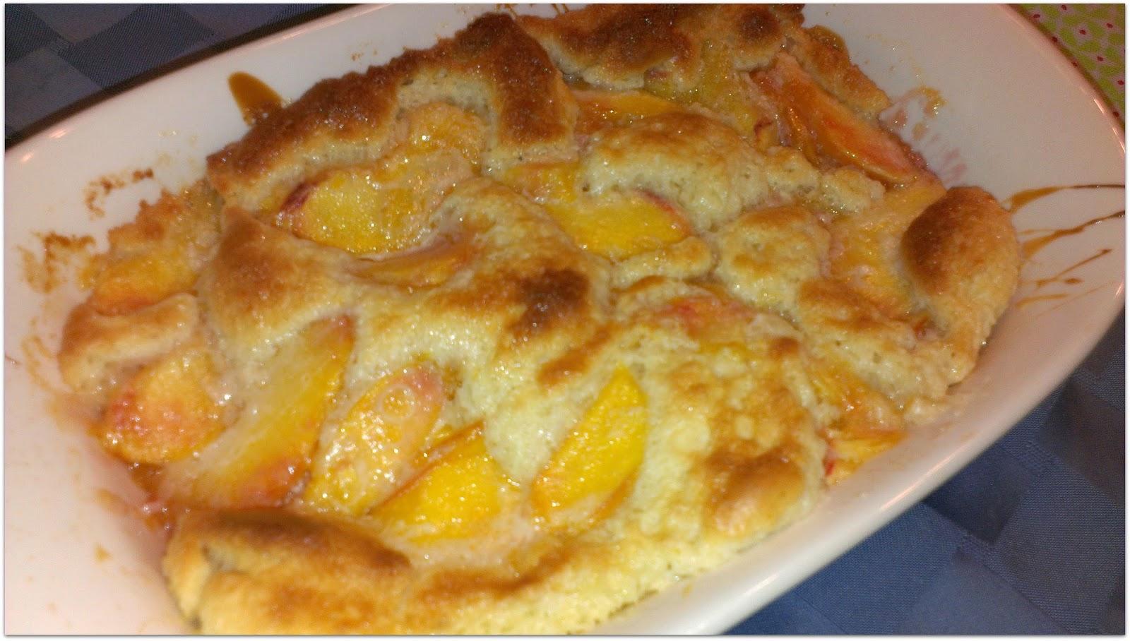 Peach Cobbler With Sweetened Condensed Milk