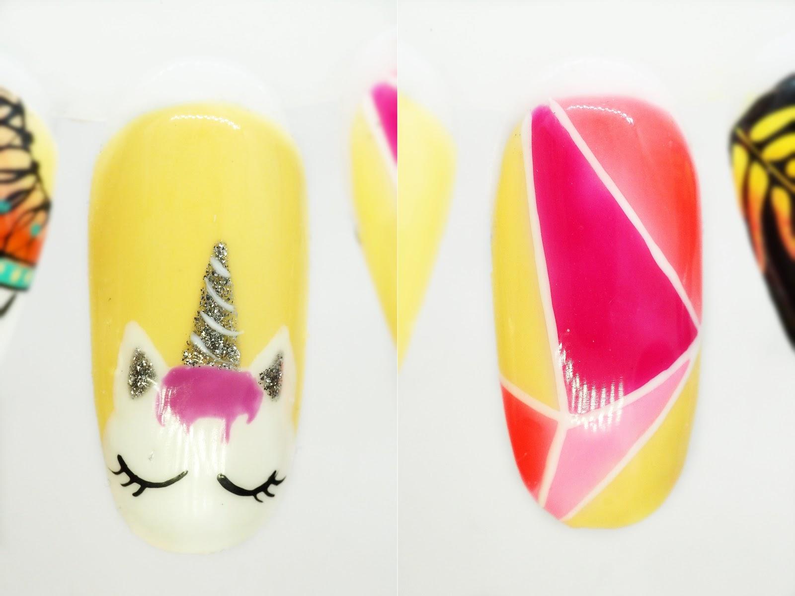 geometryczne paznokcie na lato