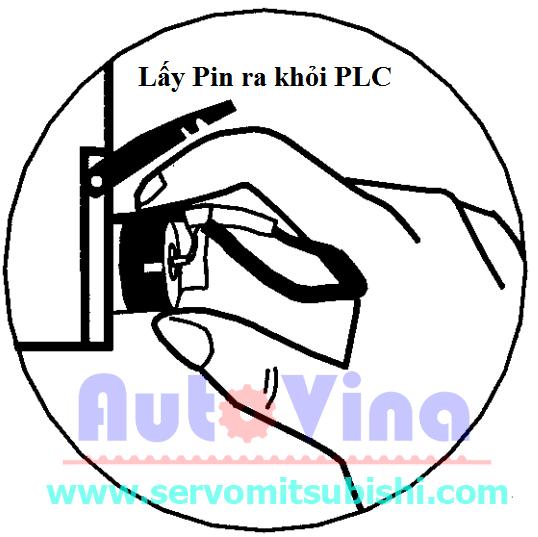 Hướng dẫn thay thế PIN PLC, cách tháo Battery cũ ra khỏi PLC Omron CPM2A