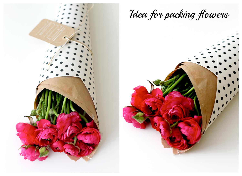 jak zapakować bukiet kwiatów