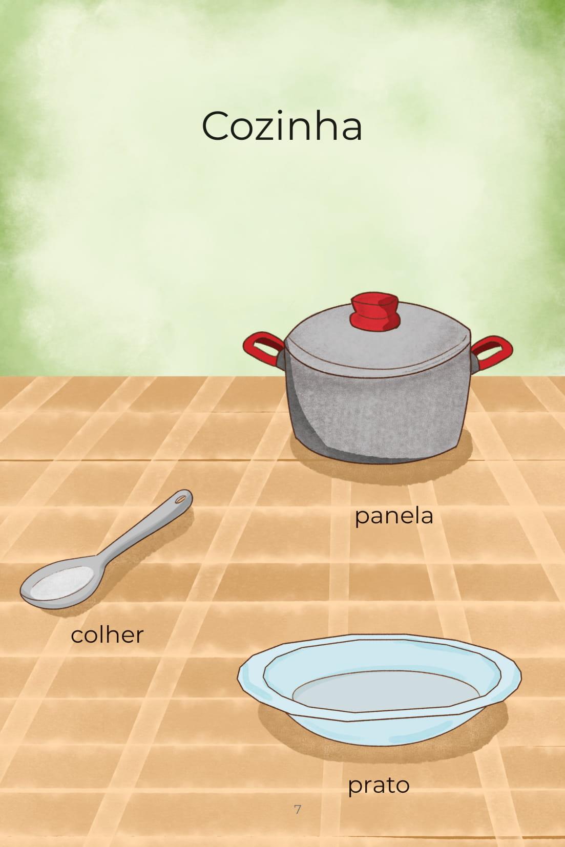 Cozinha panela colher prato