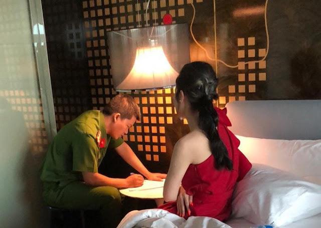 """Ảnh nàng hoa hậu trong đường dây """"bán dâm"""" 30.000USD bị bắt quả tang đang trong khách sạn"""