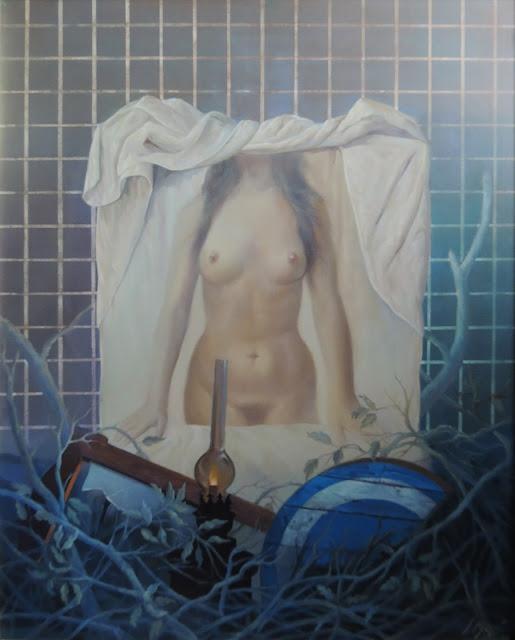 José Marí pintura surrealista arte desnudo