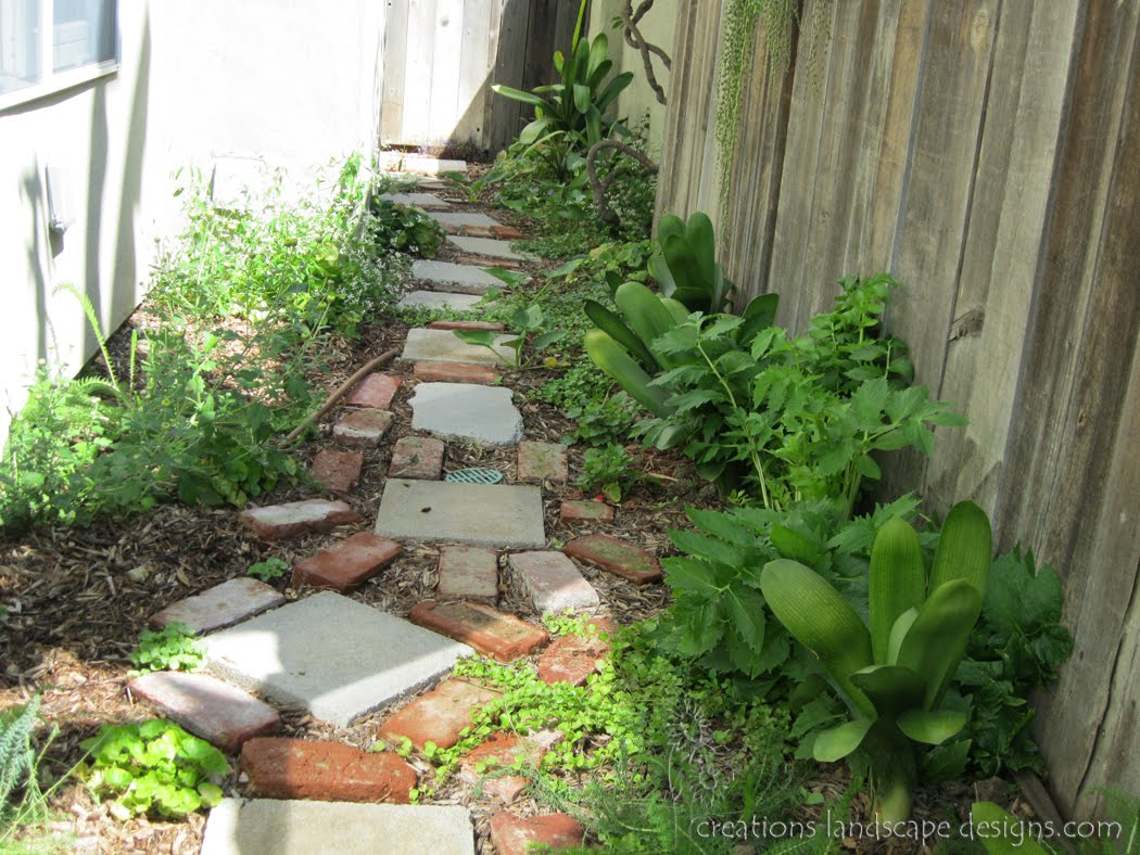 earth friendly landscapes: SMALL SIDE YARDS