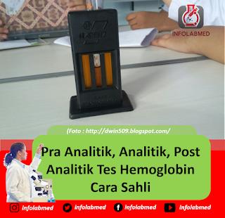 Pra Analitik, Analitik, Post Analitik Tes Hemoglobin Cara Sahli