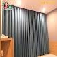 Rèm vải cản nắng màu lông chuột nhạt phòng khách và phòng ngủ đẹp,chất lượng,rẻ công trình tại liền kề nam phong tiến thành.