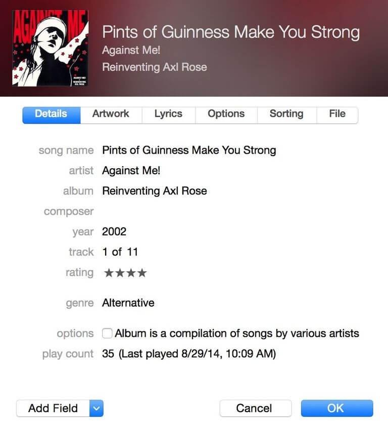 Cara Mengubah Tag ID3 dan Info Lagu Lainnya di iTunes