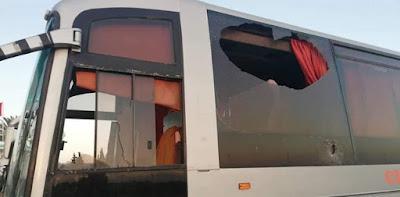 Vidéo- Le bus des supporters wydadis attaqué par les fans de l'EST