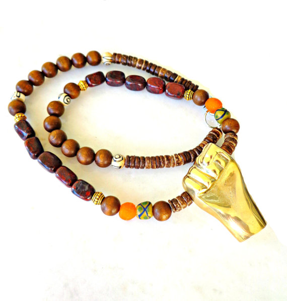 Uniquely Amp Brilliantly Adorned Men S Gold Fist Necklace