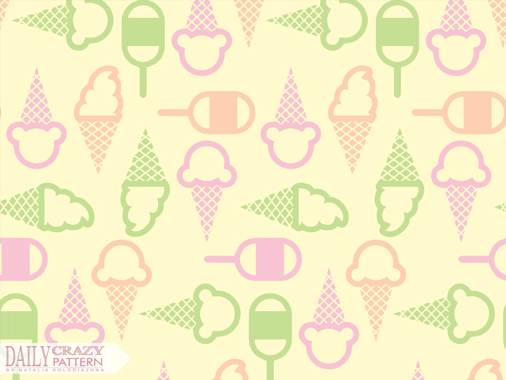 "Geometric ice cream pattern for ""Daily Crazy Pattern"" project"