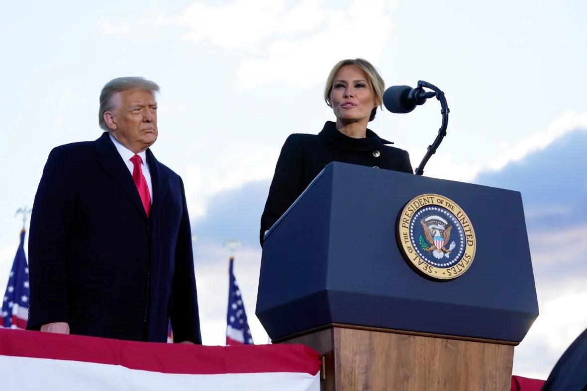 Donald Trump y Melania Discurso de despedida