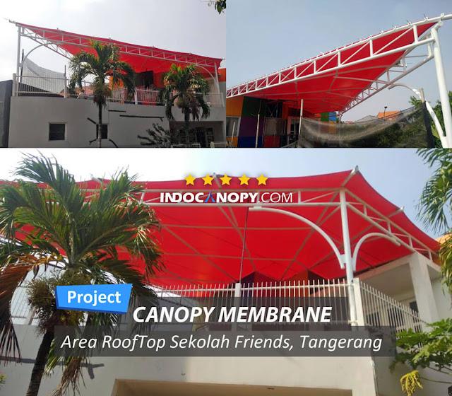 canopy membrane roof top in school
