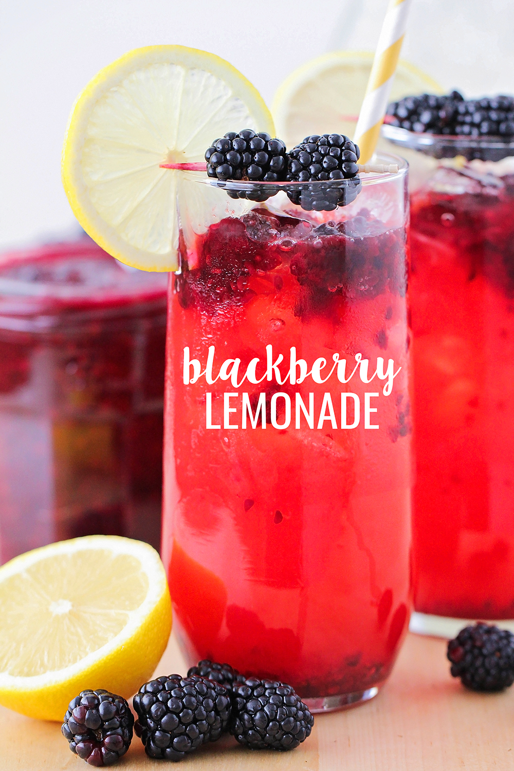 This sweet and refreshing blackberry lemonade is so easy to make at home!
